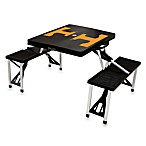 Picnic Time® University of Tennessee Collegiate Foldable Table with Seats in Black