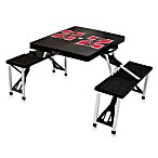 Picnic Time® University of Nebraska Collegiate Foldable Table with Seats in Black