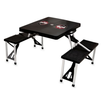 Picnic Time® Florida State University Collegiate Foldable Table with Seats in Black