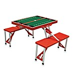 Picnic Time® University of Georgia Collegiate Foldable Table with Seats in Black