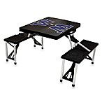 Picnic Time® University of Washington Collegiate Foldable Table with Seats in Black
