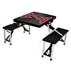 Picnic Time® Virginia Tech Collegiate Foldable Table with Seats in Black