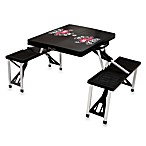 Picnic Time® University of Wisconsin Collegiate Foldable Table with Seats in Black