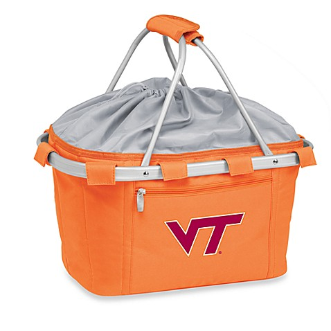 Picnic Time® Virginia Tech Collegiate Metro Basket in Orange