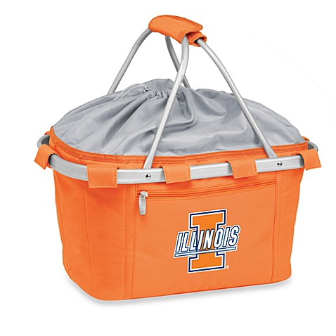 Picnic Time® University of Illinois Collegiate Metro Basket in Orange