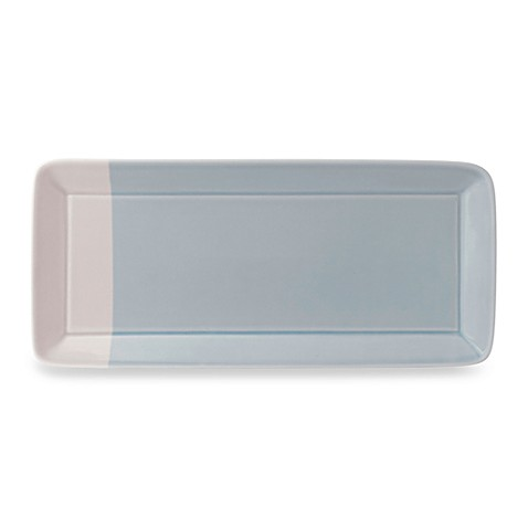 Royal Doulton® 1815 15 1/2-Inch L x 7 1/5-Inch W Rectangular Tray in Blue