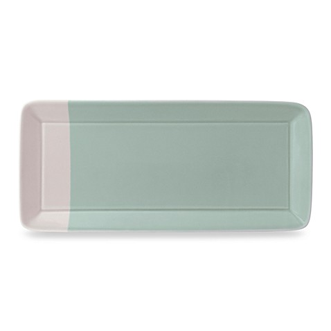 Royal Doulton® 1815 15 1/2-Inch x 7 1/5-Inch Rectangular Tray in Green
