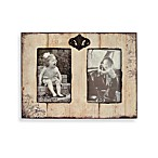 Barnwood Distressed Wood 2-Opening Frame in Ivory