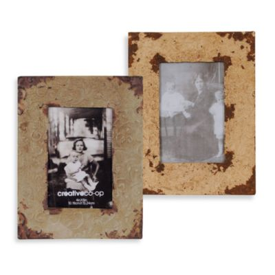Barnwood Distressed Metal Frames
