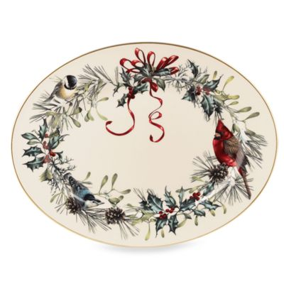 Lenox® Winter Greetings® 16-Inch Oval Platter