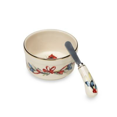 Lenox® Winter Greetings® Dip Bowl with Spreader