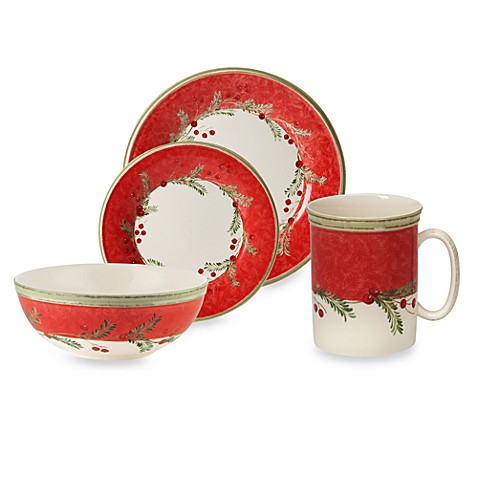 Lenox® Holiday Gatherings Holiday Wreath Dinnerware