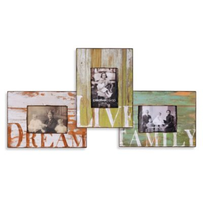 Barnwood Distressed Wood Word Frames