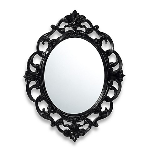 Buy baroque mirror in black from bed bath beyond for Baroque resin mirror