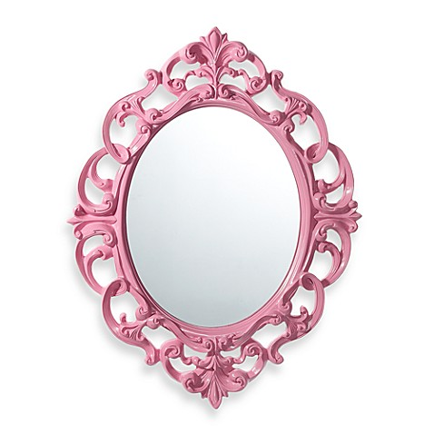 Baroque Mirror in Pink