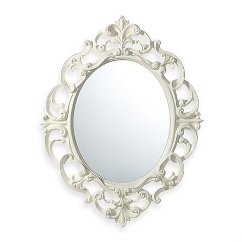 Baroque mirror in white bed bath beyond for Baroque bathroom mirror