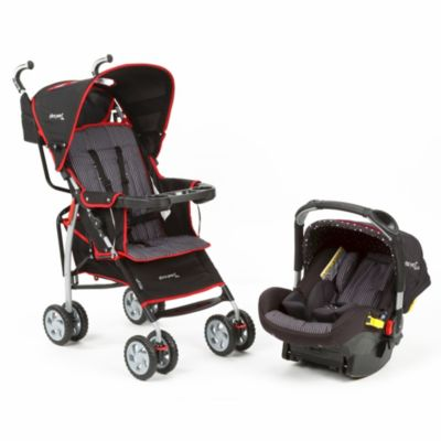 The First Years™ Wisp Travel System in Elegance Black & Red