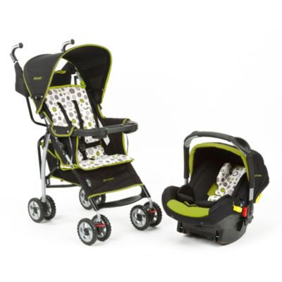 The First Years™ Wisp Travel System in Abstract O's Black & Green
