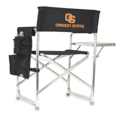 Picnic Time® Oregon State Collegiate Folding Sports Chair in Black