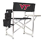 Picnic Time® Virginia Tech Collegiate Folding Sports Chair in Black