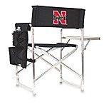 Picnic Time® University of Nebraska Collegiate Folding Sports Chair in Black