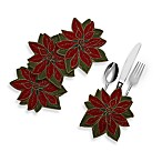 Poinsettia Utensil Holders (Set of 4)