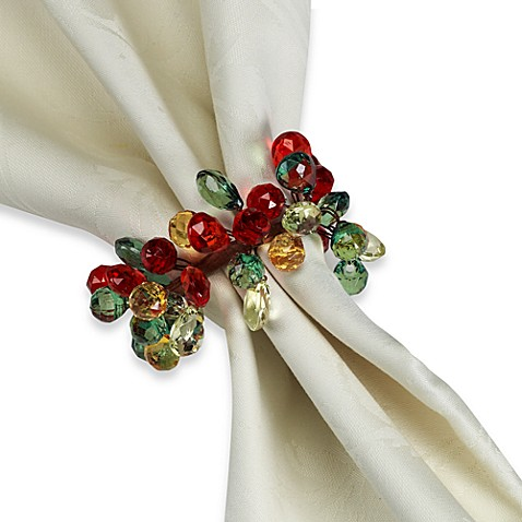 Holiday Sparkle Napkin Rings (Set of 4)