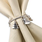 Holiday Charm Napkin Ring - Set of Four
