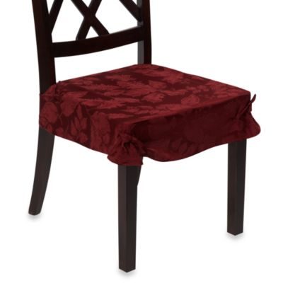 Autumn Harvest Dining Room Seat Covers (Set of 2) - Wine