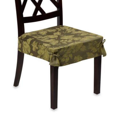 Autumn Harvest Dining Room Seat Covers (Set of 2) - Green