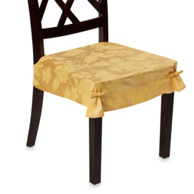 Autumn Harvest Dining Room Seat Covers (Set of 2) - Wheat