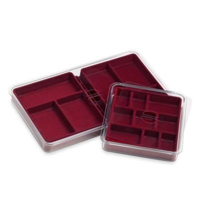 Neatnix® Jewelry Stax 6 & 9 Compartment Tray Pack in Burgundy