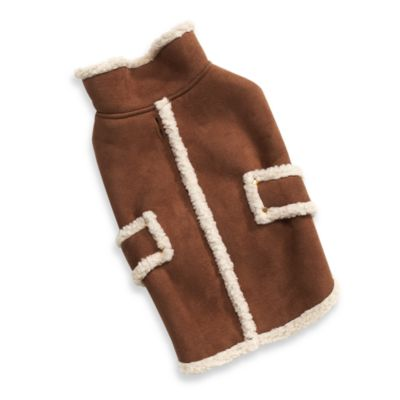 Fashion Pet™ Shearling Faux Suede Dog CoaTin Extra Small