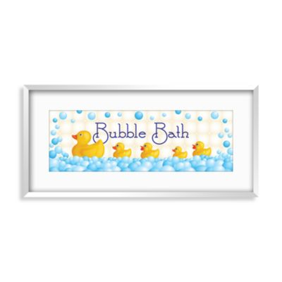 Blue Bath Wall Decor
