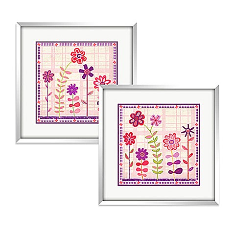 Cutesy Flowers Wall Art (Set of 2)