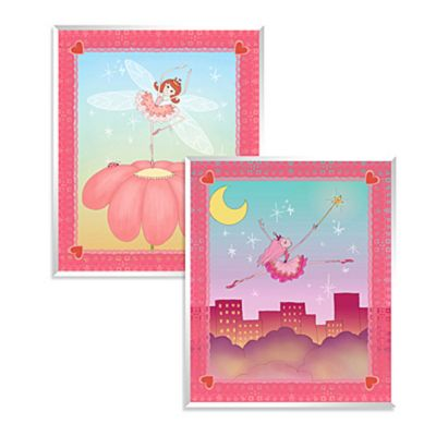 Cute Fairies Wall Art (Set of 2)