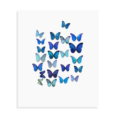 Blue Butterflies I Wall Art