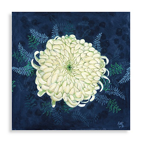 White Mum Wall Art