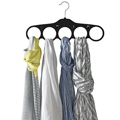 Real Simple® Slimline Scarf and Belt Hangers in Black (Set of 2)