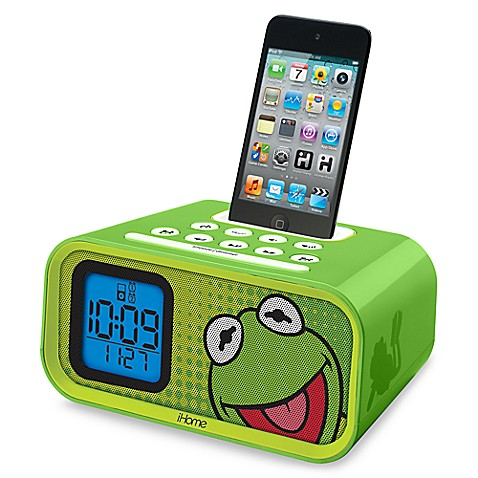 iHome® Disney Loves Dual Alarm Clock Speaker System in Kermit the Frog