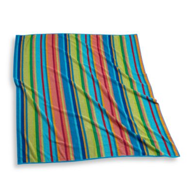 Bright Stripe Towel for Two, 100% Cotton