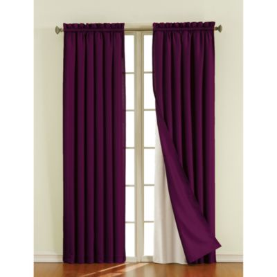 Sound Asleep™ 105-Inch Blackout Window Curtain Liner Pair