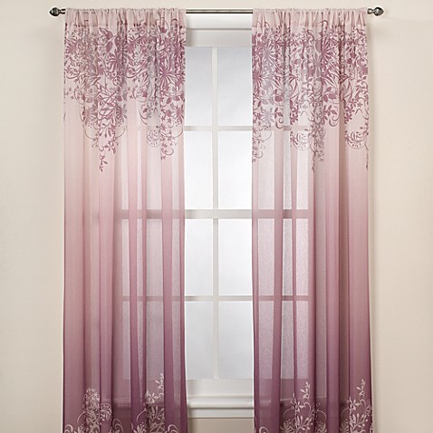 Kas Elaina Plum Sheer Window Curtain Panel Bed Bath Amp Beyond