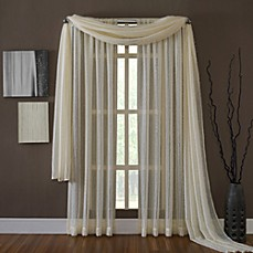 KAS® Dash Ivory Sheer Window Curtain Panel
