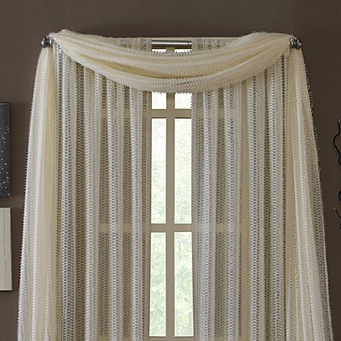 Buy Kas 174 Dash Ivory Sheer Scarf Valance From Bed Bath Amp Beyond