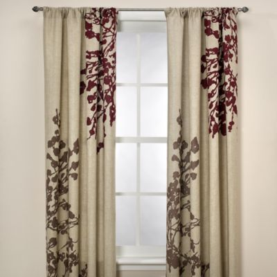 Kas Leura 108-Inch Window Curtain Panel in Plum