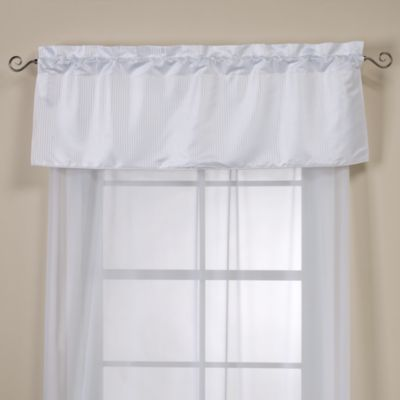 Elite Oxford Lined Window Valance