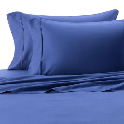 300 Cotton Sateen King Sheet Set in Navy