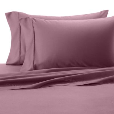 300 Cotton Sateen King Sheet Set in Purple