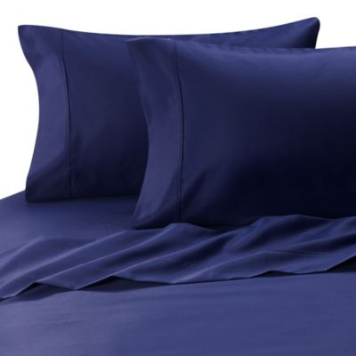 Blue Queen Sateen Sheets